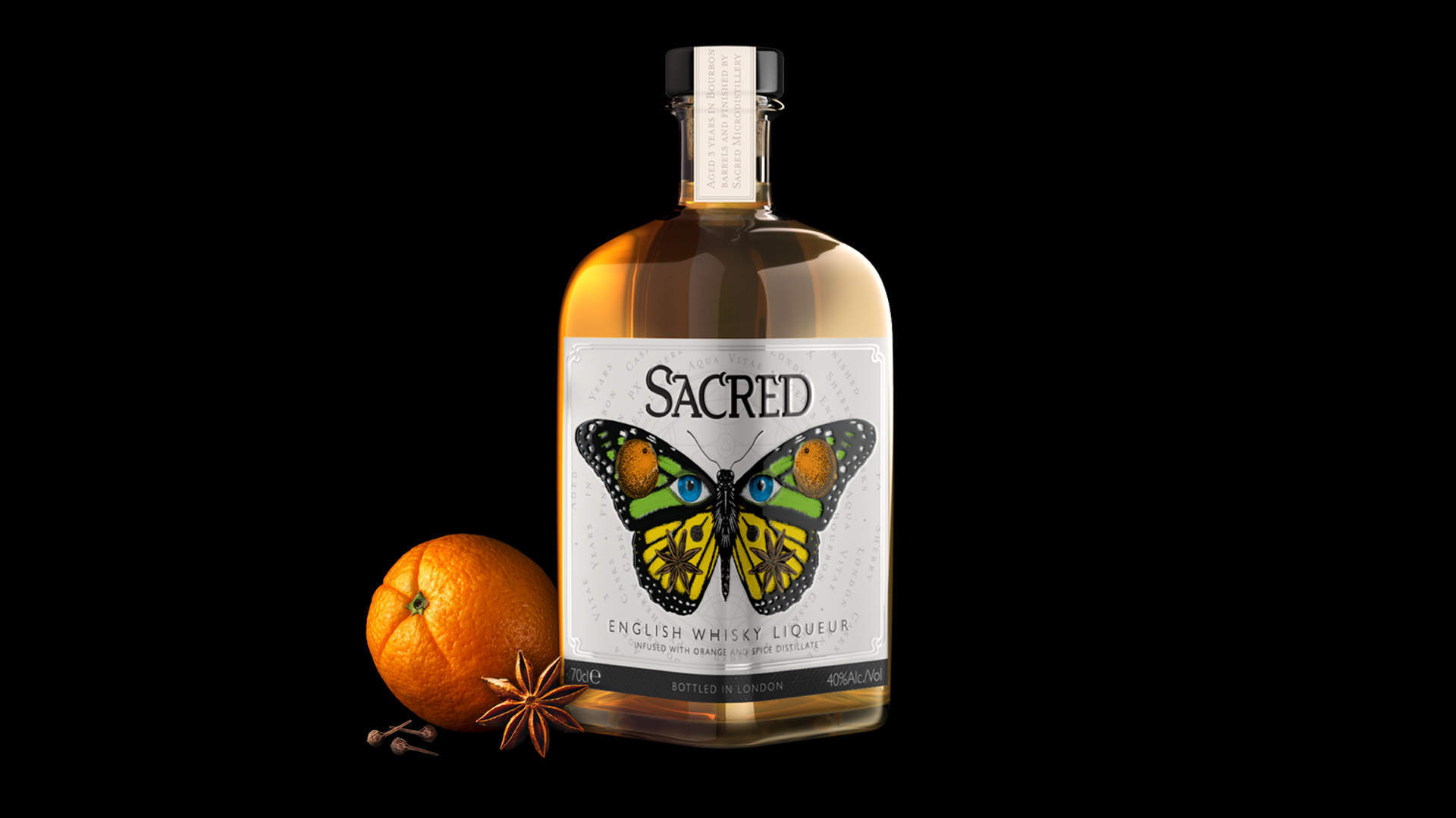 Hart & Jones create brand identity and packaging for Sacred's category changing, London finished, English Whisky Liqueur