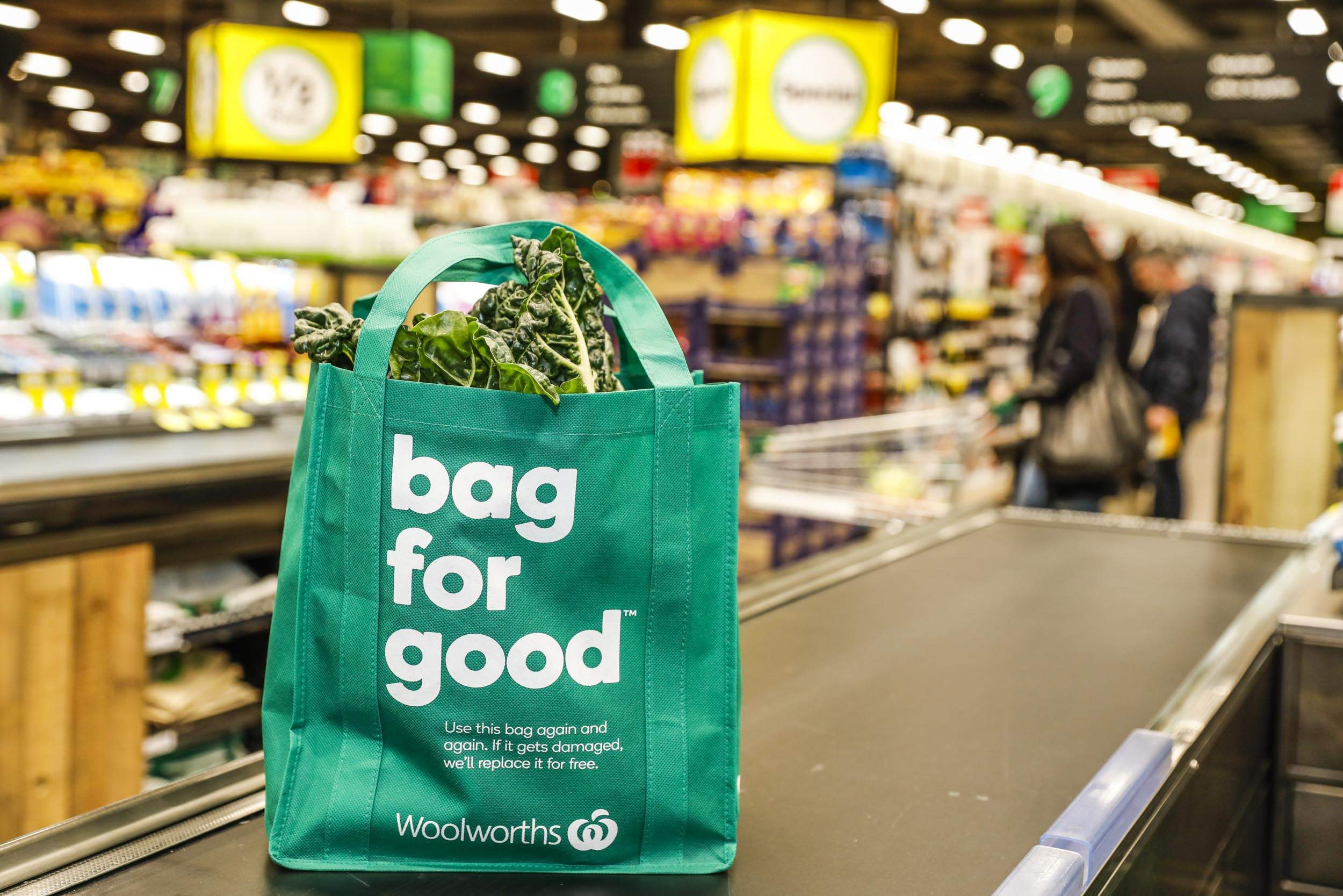 Australian retailer Woolworths to offer new green reusable shopping bag