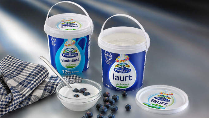 Prodlacta Brasov selects RPC Superfos' UniPak pail for yoghurt and sour cream products