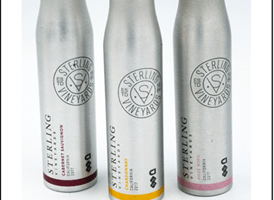 Sterling introduces trio of wines in resealable aluminum wine bottles
