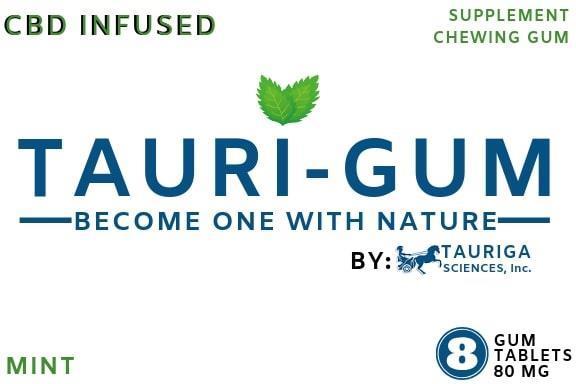 Tauriga Sciences creates alternative version of graphic design for mint flavor Tauri-Gum blister pack