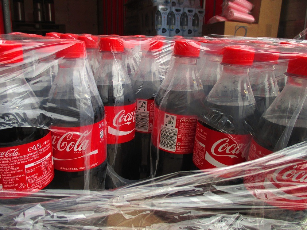 Coca cola recycling. reusing plastic water bottles