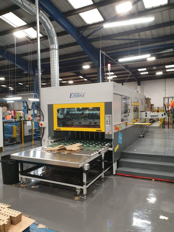 Boxes and Packaging installs Eterna's flat bed die cutter