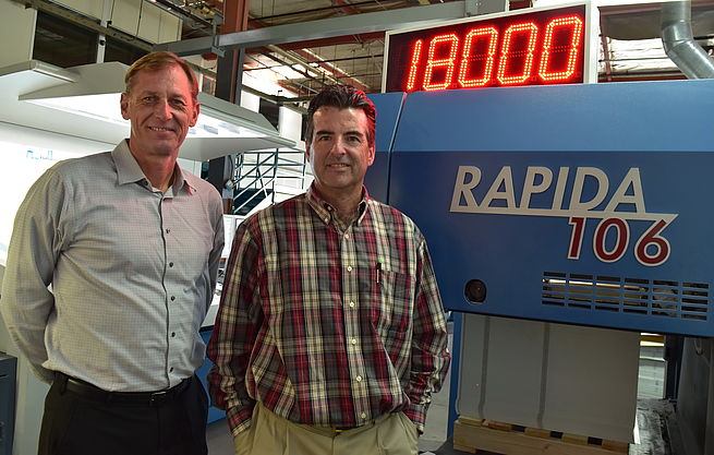 Marrs Printing invests in Koenig & Bauer Rapida 106 seven-colour press
