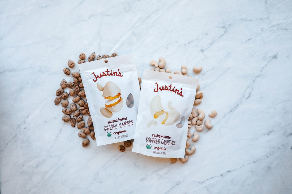 Justin's introduces organic nut butter-covered nuts