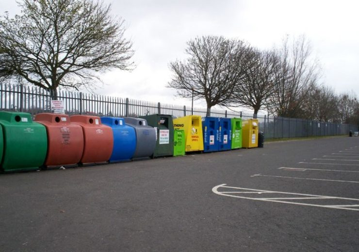 Recycling drop-off in the UK (Wikimedia)
