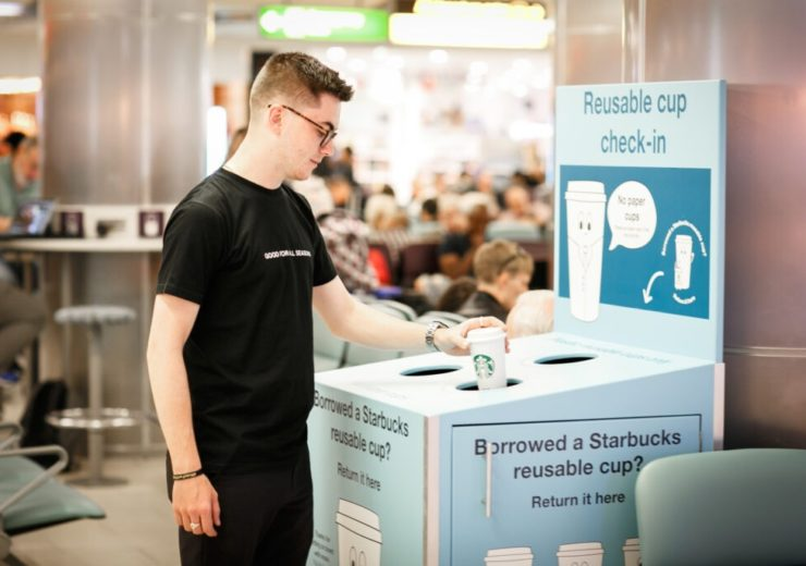 Starbucks launches reusable coffee cup trial at Gatwick Airport