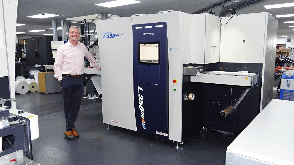 Baker Labels purchases new Truepress Jet L350UV+LM inkjet label press