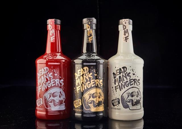 Beatson Clark designs embossed bottle for Halewood's Dead Man's Fingers rum