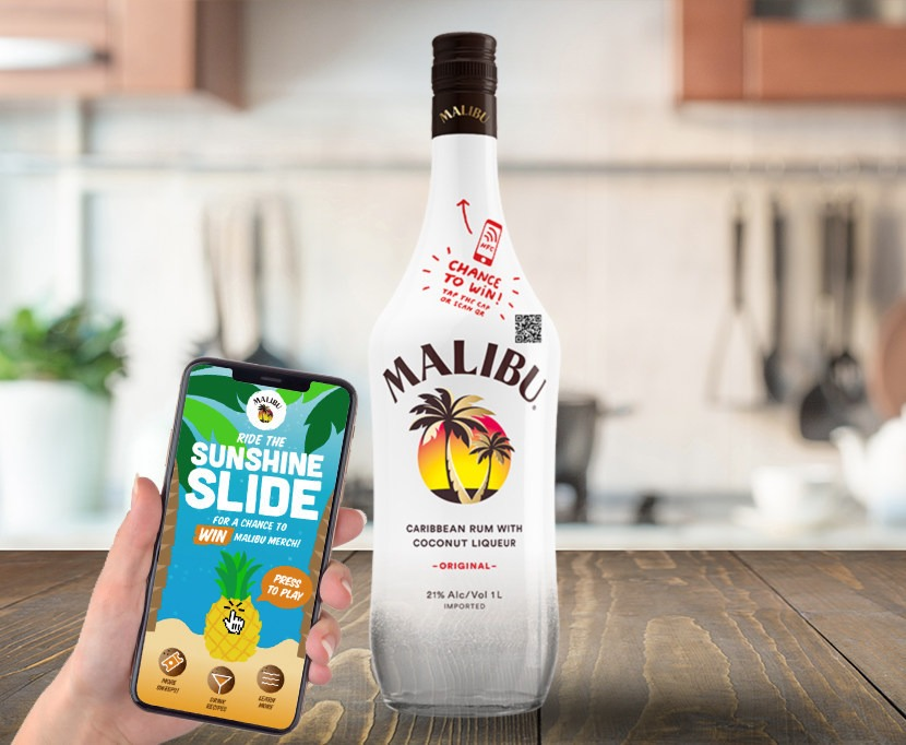 Malibu integrates NFC technology into bottle caps
