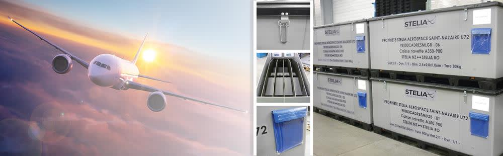 Stelia Aerospace selects DS Smith's reusable containers to transport aerostructures