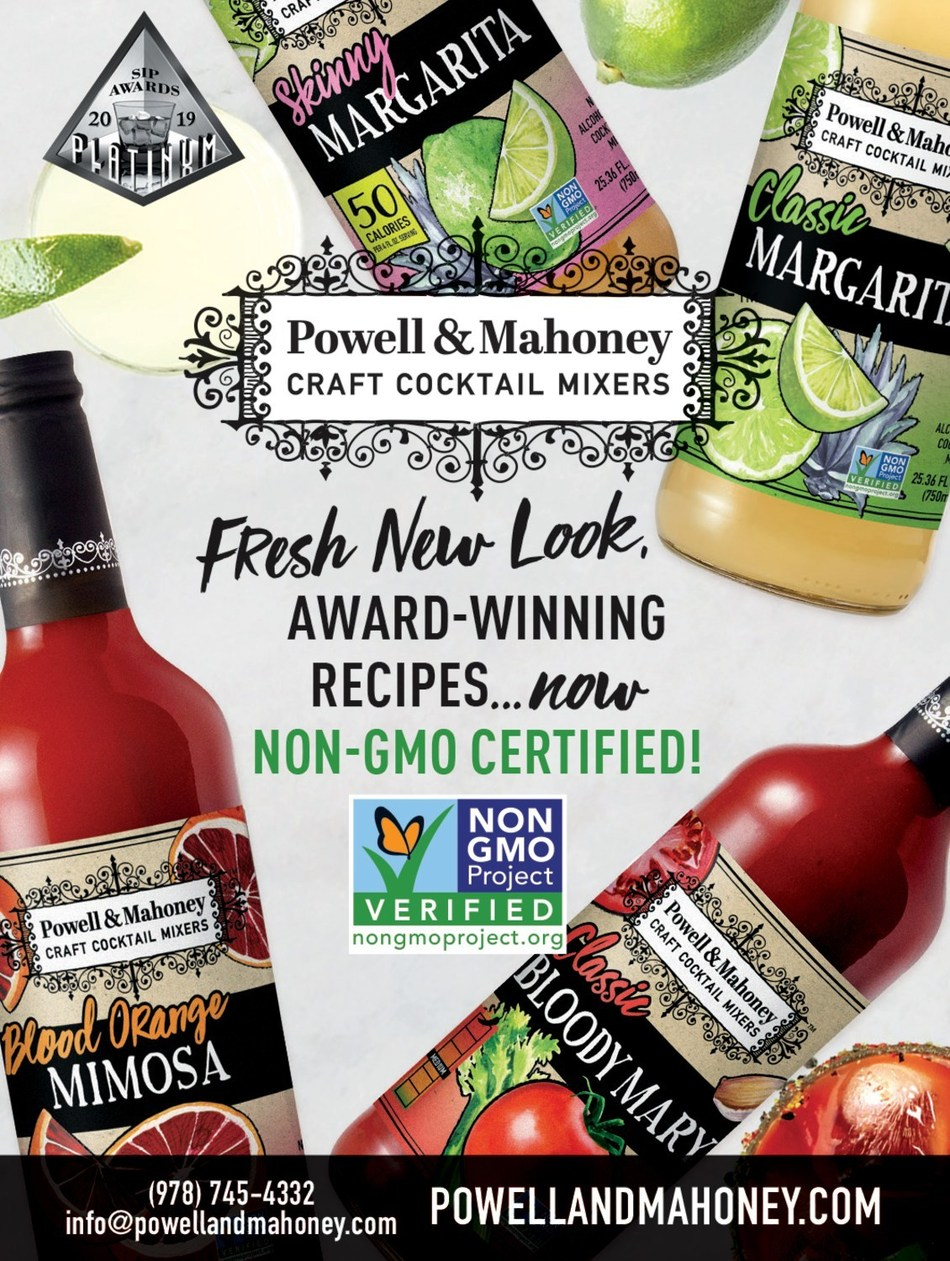 Powell & Mahoney Craft Cocktail Mixers announce packaging revamp