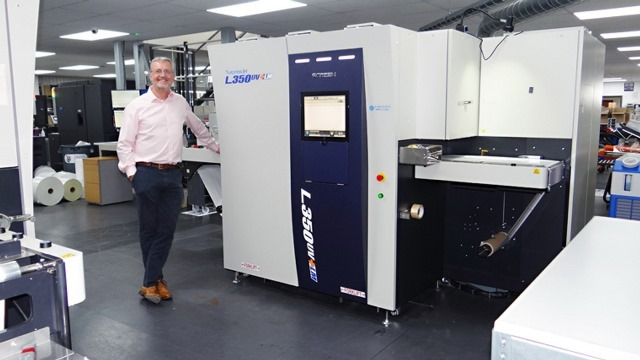 Baker Labels invests in Screen's Truepress Jet L350UV+LM press