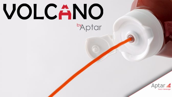 Aptar's Volcano flip-top lid for inverted packaging launched at Fispal 2019 in Brazil