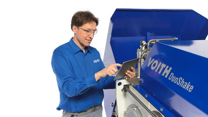 Voith shaking unit transitions to digital age with DuoShake DG