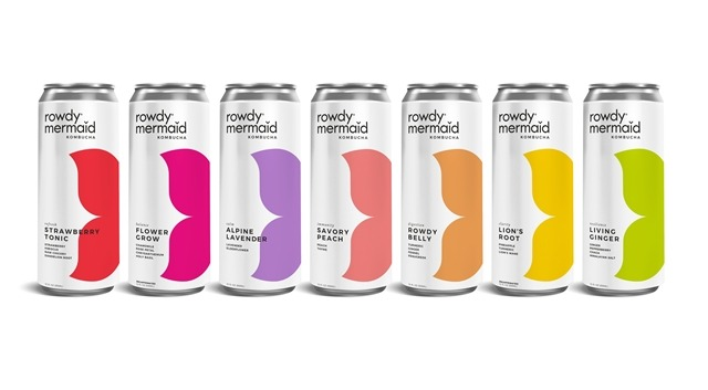Rowdy Mermaid Kombucha introduces new aluminium can designs