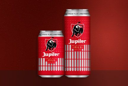 Ardagh launches new version of embossed cans for AB Inbev's Jupiler brand