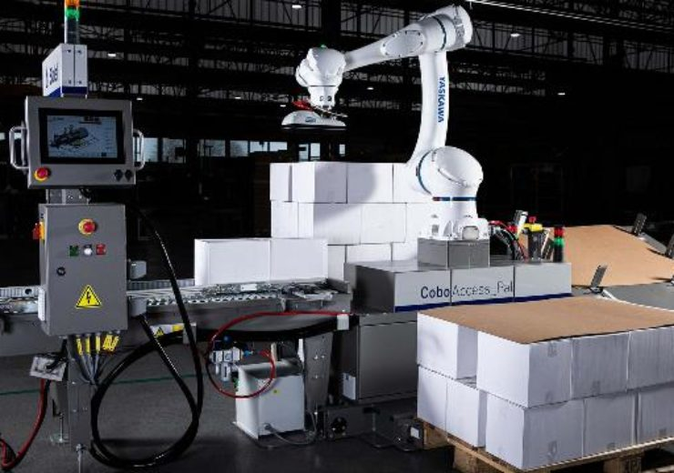 Sidel introduces new M version of CoboAccess_Pal cobotic palletiser
