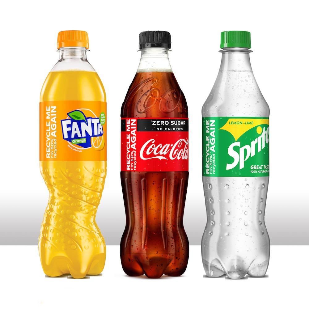 Coca-Cola UK recycled plastic