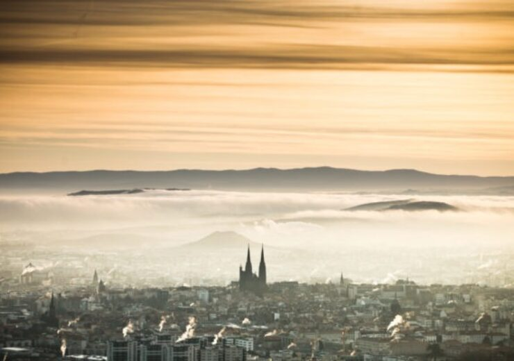 Aerial view of Clermont Ferrand