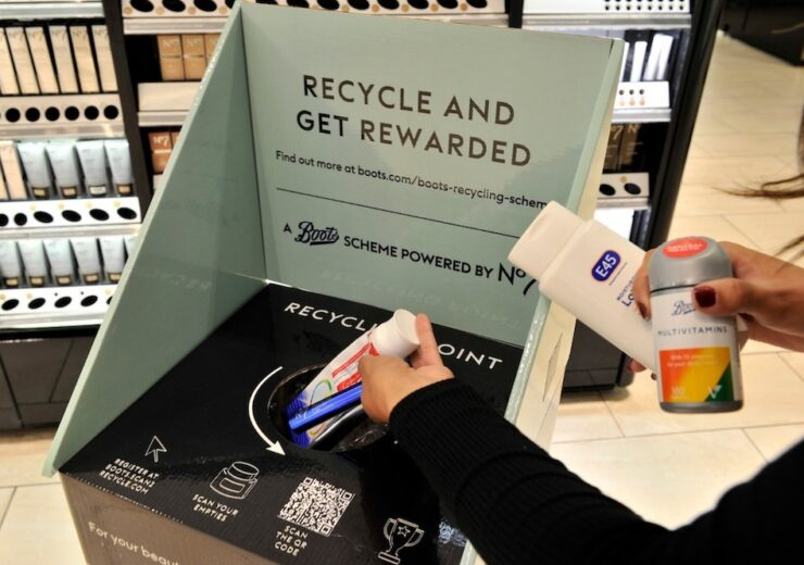 Boots in-store recycling scheme saves more than a tonne of plastic in under two months