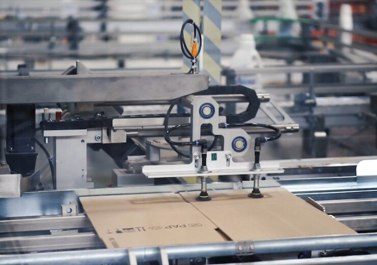 Cardboard,Package,Box,Packing,Machine.,Clip.,Box,Forming,Production,Line