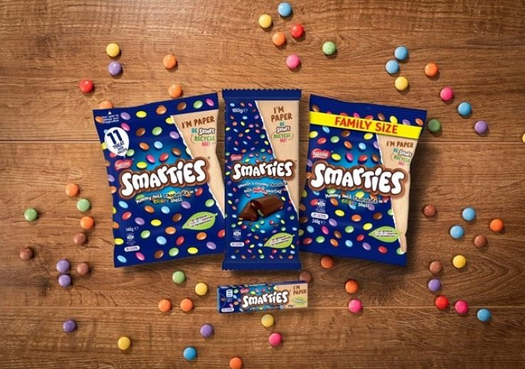 Amcor, Nestlé unveil new sustainable packaging for Smarties confectionery brand